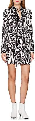 Robert Rodriguez Women's Zebra-Print Tie-Waist Dress