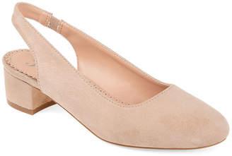 Journee Collection Womens Zippy Pumps Slip-on Pointed Toe Block Heel