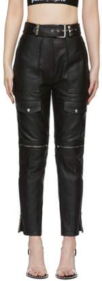 Alexander Wang Black Leather Moto Trousers