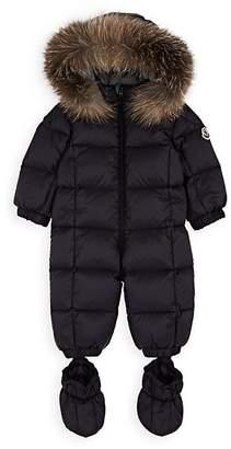 Moncler Infants' Fur-Trimmed Down-Quilted Snowsuit