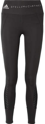 adidas by Stella McCartney Train Ultimate Mesh-trimmed Climacool Stretch Leggings - Black