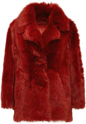 Prada shearling single breasted coat