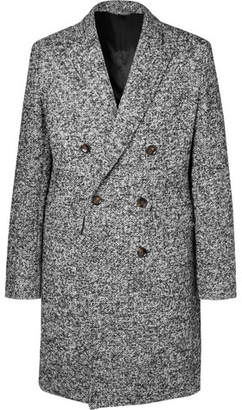 Mr P. - Double-breasted Bouclé Overcoat - Gray