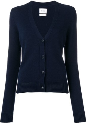Barrie embossed button cardigan
