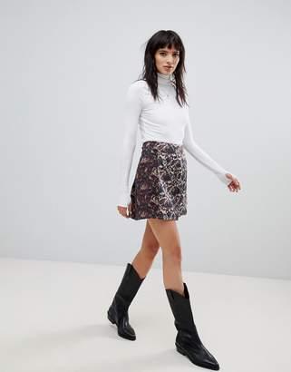 Free People Mixed Jacquard mini skirt