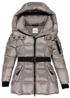 SAM. Girls' Soho Belted Puffer Jacket - Little Kid