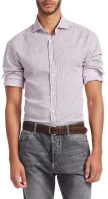 Brunello Cucinelli Stripe Button-Down Shirt