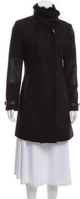 Andrew Marc Wool Fur-Trimmed Coat