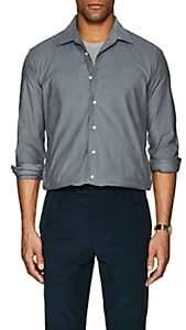 P. Johnson Men's Cotton Micro-Corduroy Dress Shirt - Gray
