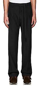 Visvim Men's Striped Wool-Mohair Pleated-Front Trousers - Charcoal