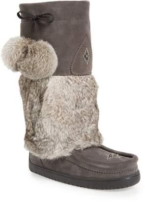 Manitobah Mukluks Snowy Owl Waterproof Genuine Fur Waterproof Boot