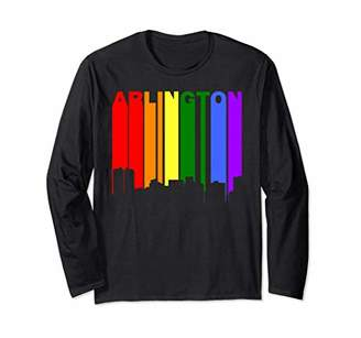 Arlington Texas LGBTQ Gay Pride Rainbow Long Sleeve T-Shirt