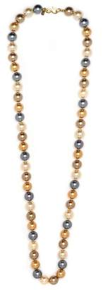 Kenneth Jay Lane 36 Multi Color Pearl Necklace