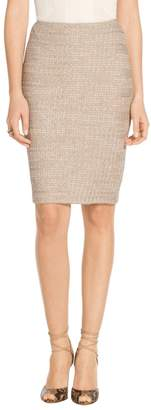St. John Shantung Chevron Knit Pencil Skirt