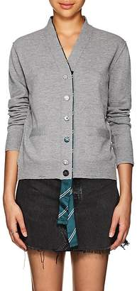 Marc Jacobs Women's Silk-Trimmed Wool Cardigan