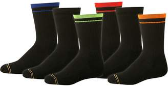Gold Toe Big Boys' 6 Pack Athletic Crew Sock