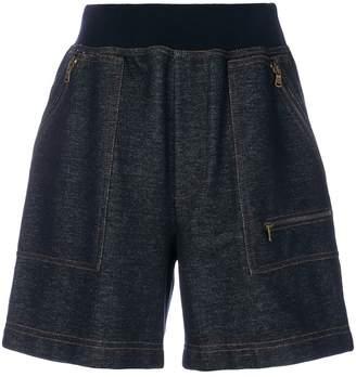 Tomas Maier knit denim short