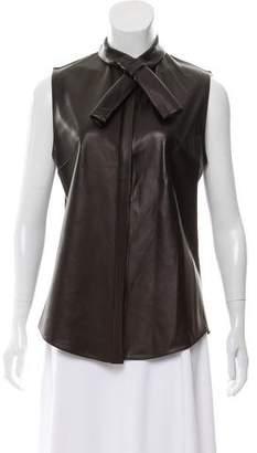 Cushnie et Ochs Leather Sleeveless Top w/ Tags