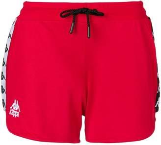 Kappa side logo stripe track shorts