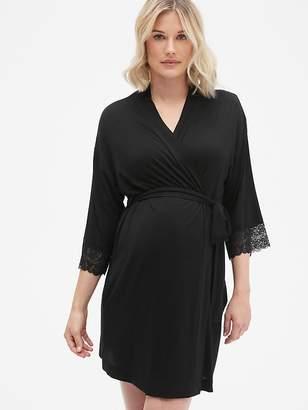 Gap Maternity Lace Trim Robe in Modal