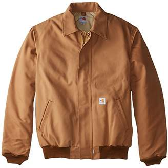 Carhartt Men's Big & Tall Flame Resistant Duck Bomber Jacket,Carhartt Brown,4X-Large/Tall