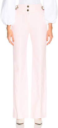 Chloé Bleached Denim Belted High Waisted Jeans