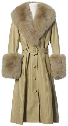 Saks Potts Green Leather Coats
