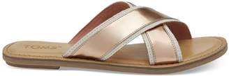 Toms Natural Metallic Jute Women's Viv Sandals