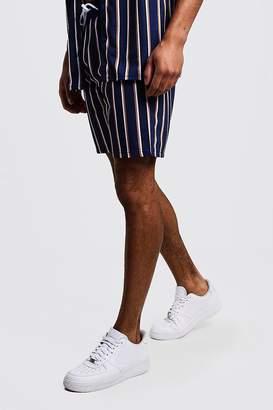 boohoo Vertical Stripe Mid Length Short