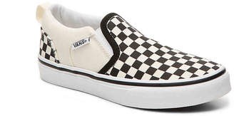 Vans Asher Checkers Toddler & Youth Slip-On Sneaker - Boy's