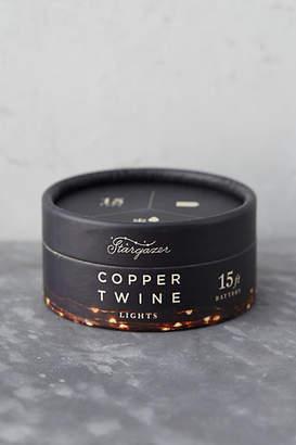 Anthropologie Stargazer Copper Twine Lights, 15' Battery Powered