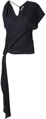 Jacquemus asymmetric tie knot blouse