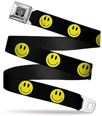 Buckle-Down Unisex-Adults Seatbelt Belt Smiley Face XL