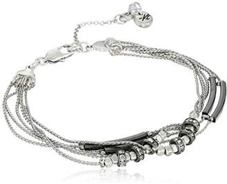 Kenneth Cole New York Pave Mixed Two-Tone Bead Multi-Row Bracelet
