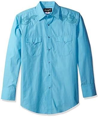 Wrangler Men's Silver Edition Long Sleeve Western Shirt