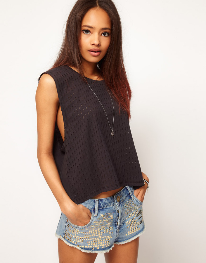 Asos T-Shirt in Holey Texture