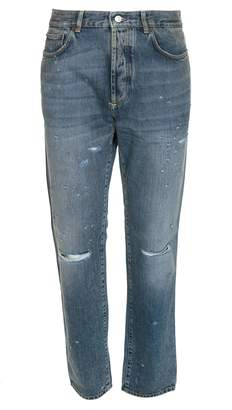 Givenchy Distressed Ripped Jeans