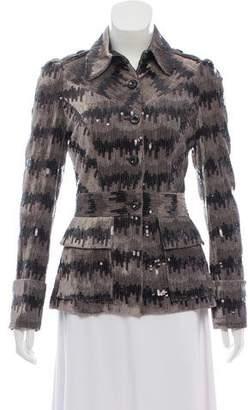 Diane von Furstenberg Sequin Button-Up Jacket