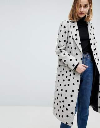 Asos Design Spot Coat