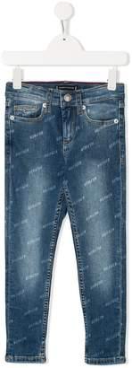 Tommy Hilfiger Junior monogram print jeans