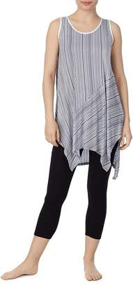 Donna Karan Striped Tunic & Leggings Set