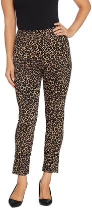 Joan Rivers Classics Collection Joan Rivers Petite Length Signature Printed Pull-On Ankle Pants