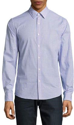 Michael Kors Espen Printed Slim-Fit Cotton Sportshirt