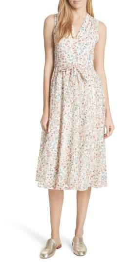 Mini Bloom Burnout Midi Dress