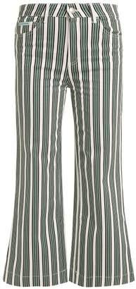 Alexachung - Striped High Rise Jeans - Womens - Green Stripe