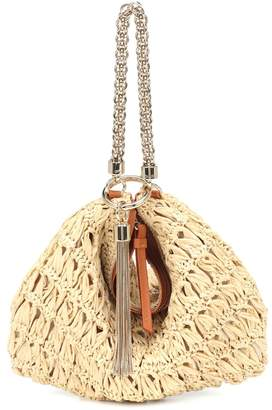 Jimmy Choo Callie raffia clutch