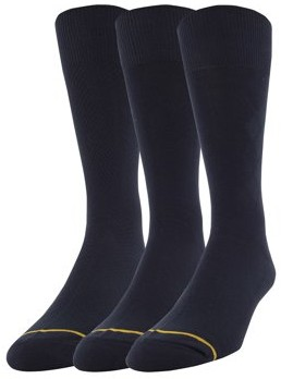 Gold Toe Gt a Goldtoe Brand GT by Men's Rayon Texture Dress Socks, 3-Pack