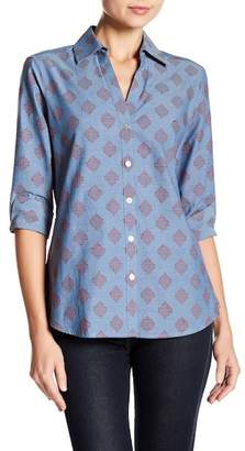 Foxcroft Mary Embroidered Square Shirt
