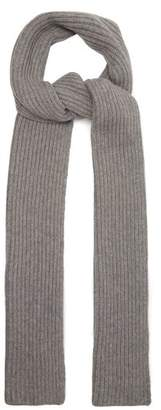 Gabriela Hearst Ribbed Knit Cashmere Scarf - Womens - Grey