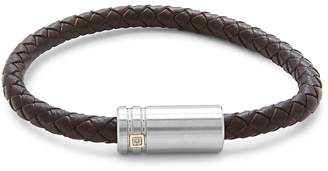 Saks Fifth Avenue Men's 14K Gold Stainless Steel & Leather Bracelet